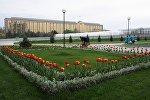 Өзбекстан парламентинин имараты. Архивдик сүрөт