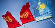 Кыргызстандын жана Казакстандын мамлекеттик туулары. Архив