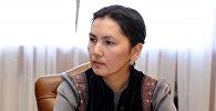 Жогорку Кеңештин Ата Мекен фракциясынын депутат Аида Салянованын архивдик сүрөтү