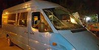 Маршрутка перевернулась около здания Форума в Бишкеке, пострадали 7 человек
