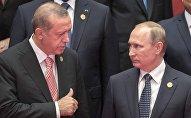 Россиянын президенти Владимир Путин жана Түркия жетекчиси Режеп Тайип Эрдогандын архивдик сүрөтү