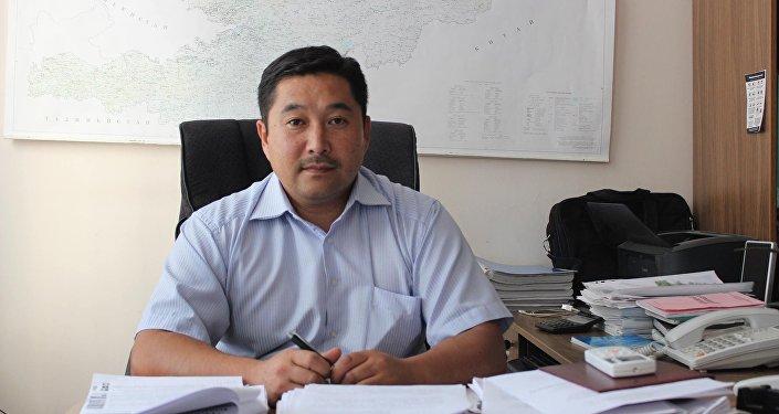 Глава группы реализации проектов ОАО Национальная электрическая сеть Кыргызстана Рустанбек Раимкулов. Архив