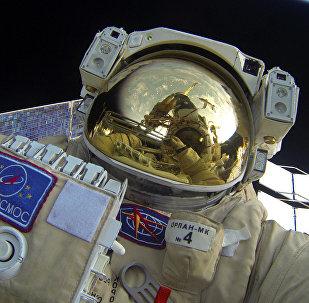 Архивное фото космонавта