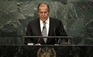 Глава МИД РФ Сергей Лавров на сессии Генеральной ассамблеи ООН