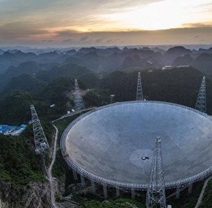Крупнейший в мире радиотелескоп FAST, Гуйчжоу. Китай