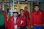 Прилет кыргызстанских паралимпийцев из Рио-де-Жанейро