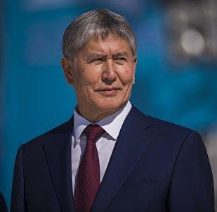 Кыргыз Республикасынын президенти Алмазбек Атамбаевдин архивдик сүрөтү