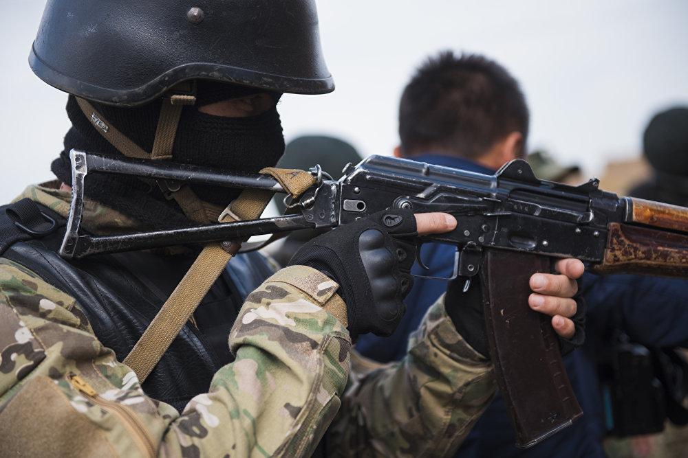 Учения отряда специального назначения Омега и сводного отряда ГСИН