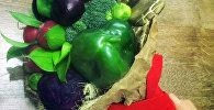 Съедобные букеты из фруктов и овощей для продажи в Бишкеке