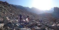 Масштабная уборка бытового мусора на леднике Ак-Сай по инициативе РФОПРЛО