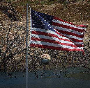 Архивное фото государственного флага США