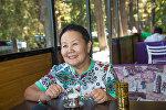 Пенсионерка из Бишкека Асель Даниярова, которая за свой счет возит сельских преподавателей в путешествие в Москву