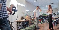 Съемки сериала Камень, ножницы, бумага в Бишкеке