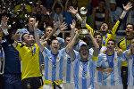Футзал боюнча дүйнө чемпионатын жеңип алган аргентинанын курама командасы