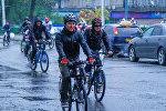 Бүгүн Бишкекте салтка айланган веложүрүш өткөндүгүн шаар мэриясынан кабарлашты