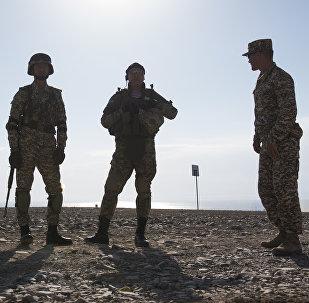Военнослужащие армии Кыргызстана на учениях. Архивное фото