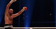 Чемпион мира по боксу в тяжелом по версиям WBA, WBO и IBO Тайсон Фьюри после боя