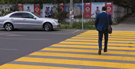 Пешеходный переход на пересечении улиц Токтогула и Раззакова. Архивное фото
