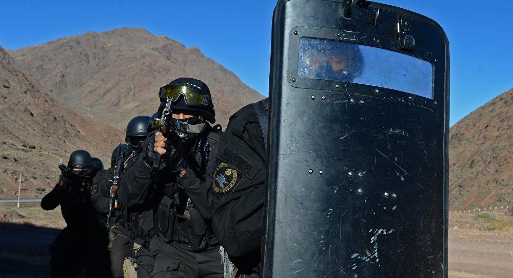 Военнослужащие спецназа МВД Кыргызстана во время учения стран ОДКБ. Архивное фото
