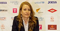 Архивное фото пресс-секретаря Федерации футбола Кыргызской Республики Угрюмовой Натальи