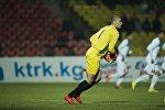 Вратарь сборной Кыргызстана Павел Матяш во время матча. Архивное фото