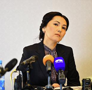 Архивное фото депутата от фракции Ата Мекен Аиды Саляновой