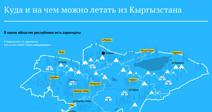 Куда и на чем можно летать из Кыргызстана