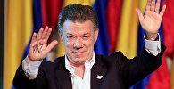 Колумбиянын президенти Хуан Мануэл Сантоско тынчтык үчүн нобель сыйлыгын ыйгаруу аземинде