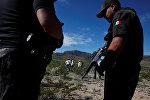 Мексиканын полиция кызматкерлери. Архивдик сүрөт