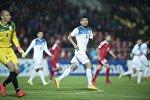Кыргызстандын футбол оюнчулары беттеш учурунда. Архив