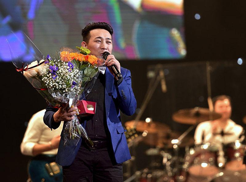 Певец Кайрат Примбердиев на концерте российской певицы Елены Ваенга в Санкт-Петербурге.