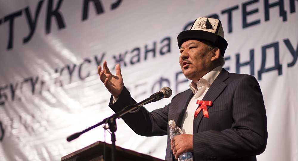 Президенттикке талапкер Азимбек Бекназаров. Архив