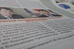 Түркиядагы КР өкүлү Ибрагим Жунусов тууралуу макала, гезит бетинен тартылган сүрөт