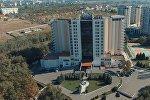 Архивное фото гостиницы Ак-Кеме в Бишкеке, который выставлен на аукцион