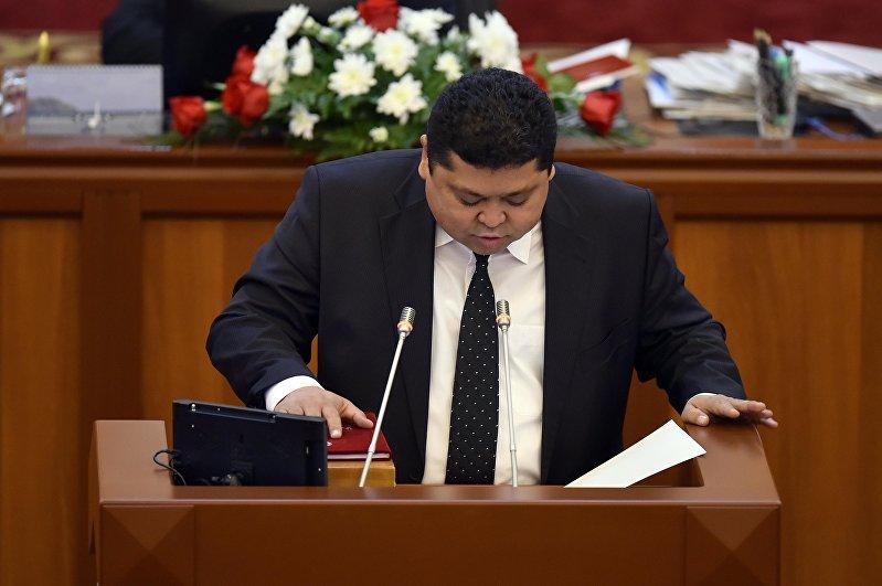 Депутат ЖК 6-го созыва Тынчтык Шайназаров от фракции Онугуу — Прогресс. Архивное фото