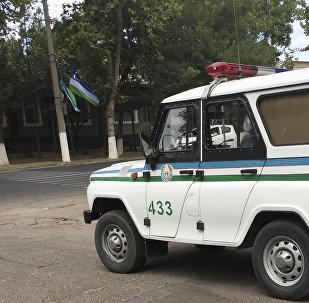 Узбекский полицейский автомобиль. Архивное фото