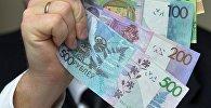 Беларусские деньги, архивное фото