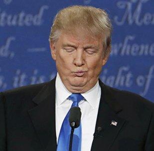 Республикалык партиянын атынан АКШнын президенттигине талапкер Дональд Трамптын архивдик сүрөтү