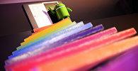 Логотип мобильной операционной системы корпорации Google Android. Архивное фото
