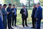 Бишкек шаарынын мэри Албек Ибраимов борбор калааны кыдырып жүрүп, Щербаков көчөсүн бойлой дагы бир парк курууну тапшыр