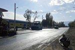 Балыкчы шаарынын борбордук Абдрахманов көчөсүнө асфальт төшөө иштери беш күндөн соң аяктайт