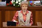 Архивное фото депутата Жогорку Кенеша от фракции СДПК Евгении Строковой