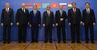 Совместное фотографирование глав делегаций государств-членов ОДКБ