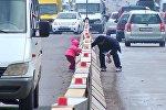 Городские архары — прыжки пешеходов через парапеты на дорогах Бишкека