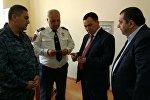 Министр внутренних дел КР генерал-майор милиции Кашкар Джунушалиев ознакомился с реформами армянской полиции