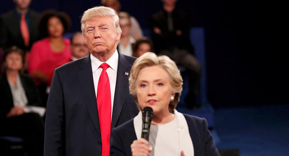 Архивное фото Хиллари Клинтон и Дональда Трампа