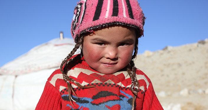 Памир кыргыз кызы. Архивдик сүрөт