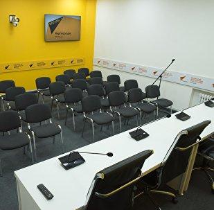 Пресс-центр редакционного центра Sputnik Кыргызстан в Бишкеке