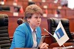 Депутат Жогорку Кенеша Ирина Карамушкина. Архивное фото