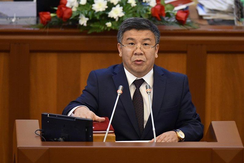 Депутат ЖК 6 созыва Алмамбет Шыкмаматов от фракции Ата-Мекен. Архивное фото